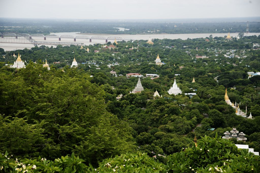 Sagaing, views from the Son Oo Pon Nya Shin Pagoda