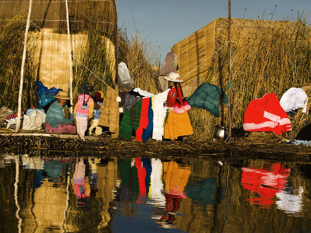 Floating islands of the Uros (Titicaca Lake)