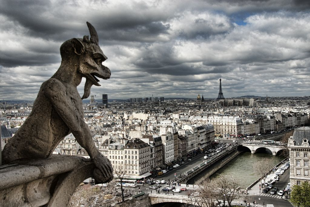 Views from the tower of Notre-Dame