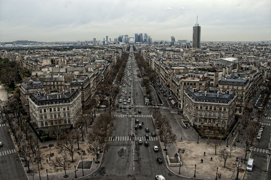 Views from the Arc de Triomphe