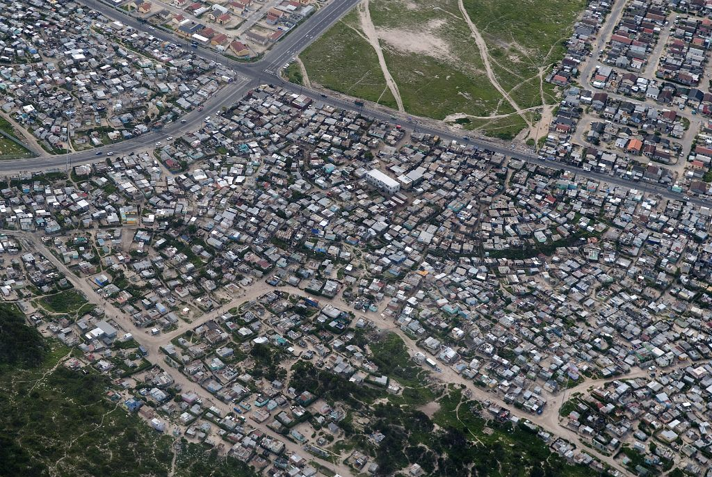 Cape Town, views of a township from the air